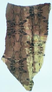 """Key Wallpaper""//screen print, acrylic, resin on wallpaper//11""x15"""